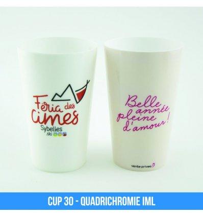 Photos des gobelets réutilisables Cup 30
