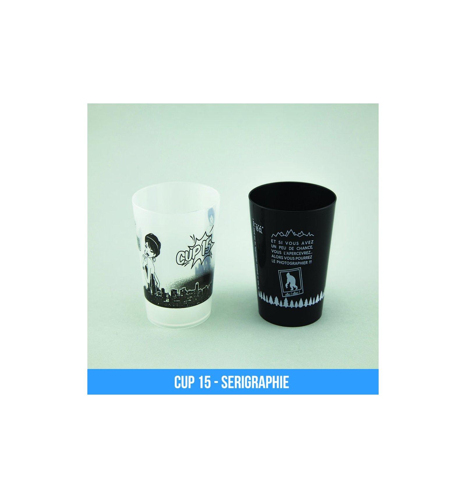 Faire Des Gobelets Personnalisés cup 15 (15cl) - gobelets réutilisables personnalisables