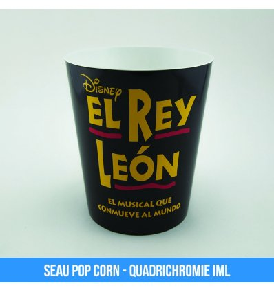 Bucket pop-corn personnalisable