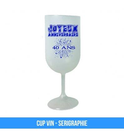 Verre a Vin plastique réutilisable